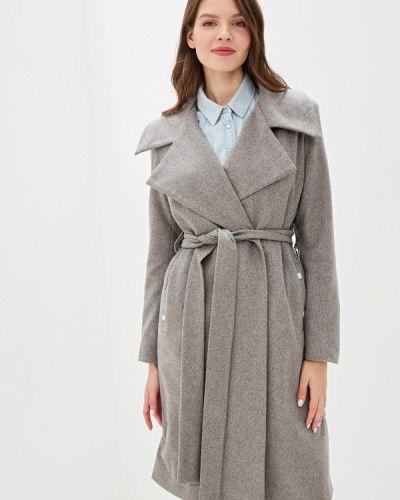 Пальто серое пальто Adzhedo
