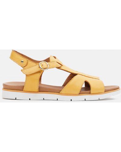 Кожаные сандалии - желтые Plezuro