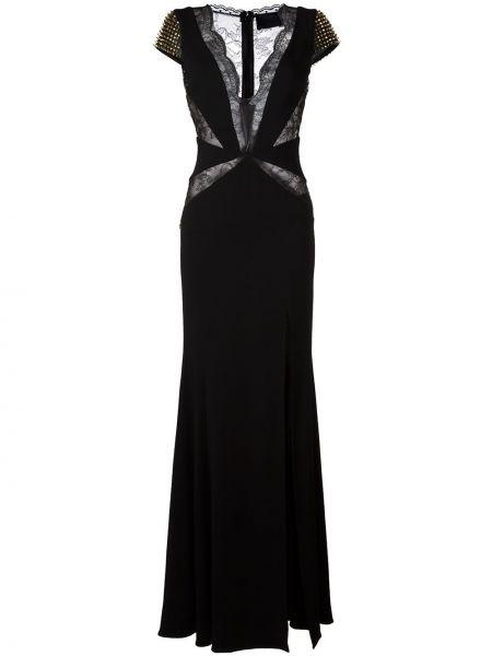 Вечернее платье мини с V-образным вырезом Philipp Plein