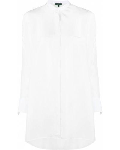 Шелковая белая рубашка оверсайз Jejia