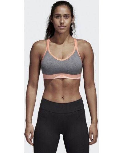 Серый спортивный топ Adidas