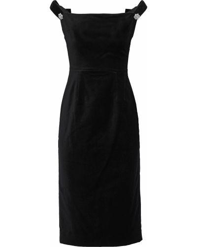 Czarna sukienka z kryształkami Alexachung
