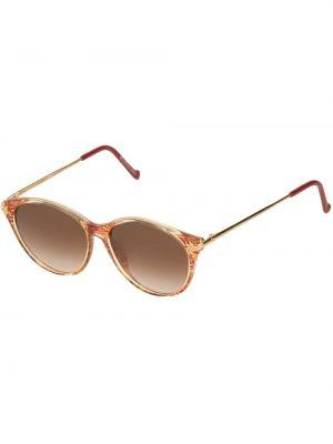 Желтые солнцезащитные очки круглые металлические Christian Lacroix Pre-owned