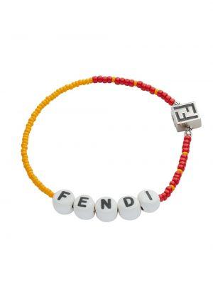 Żółta bransoletka Fendi