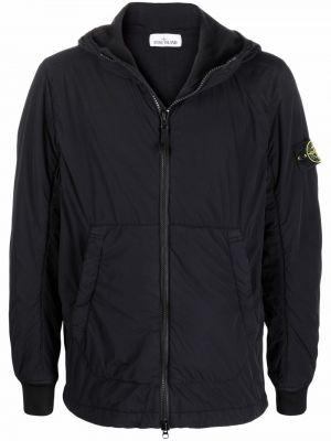 Куртка с накладными карманами - черная Stone Island