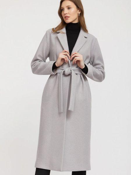 Серое пальто с капюшоном Charuel