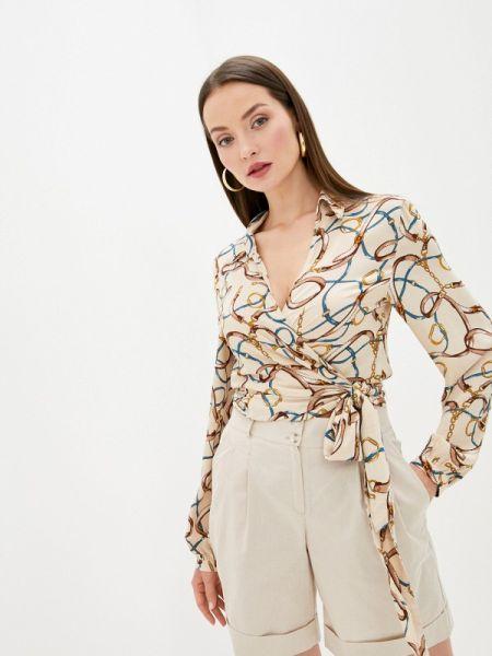 Блузка с длинным рукавом бежевый осенняя Sweewe