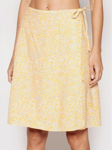 Żółta spódnica mini Samsoe Samsoe