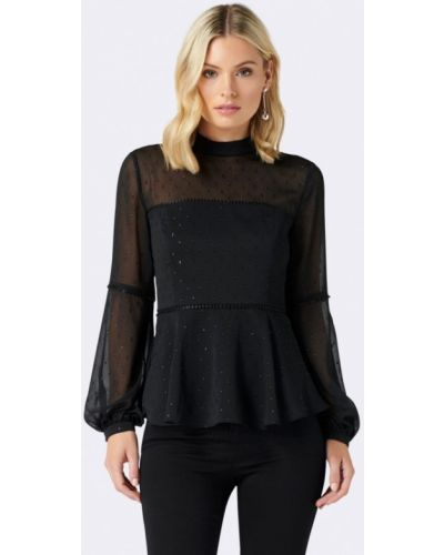 Черная блузка осенняя Forever New