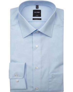 Niebieska koszula bawełniana do pracy Olymp