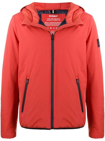 Классическая оранжевая куртка с капюшоном с манжетами на молнии Ecoalf
