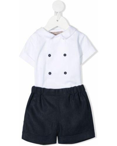 Biały lniany garnitur La Stupenderia