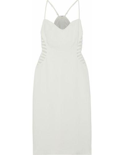 Белое платье из фатина с подкладкой Halston Heritage