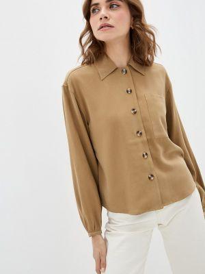 Коричневая блузка с длинными рукавами Soaked In Luxury