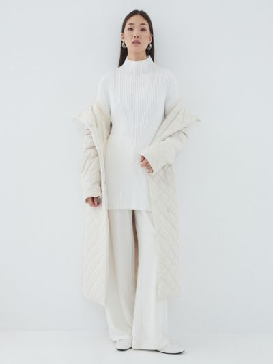 Белое пальто на подкладке Zarina
