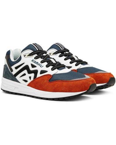 Pomarańczowe sneakersy płaska podeszwa z nylonu Karhu