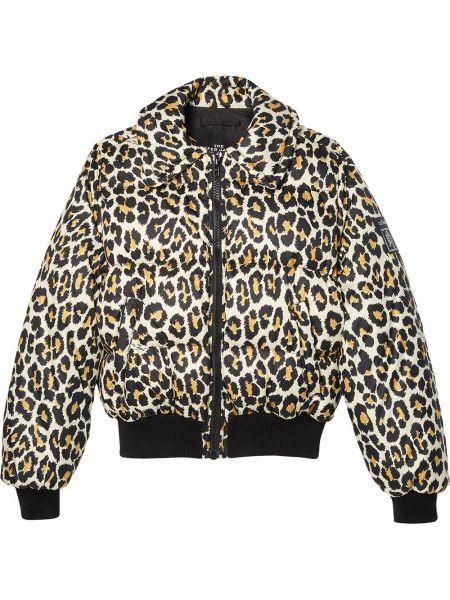 С рукавами коричневая куртка на молнии Marc Jacobs