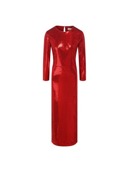 Красное вечернее платье с пайетками на торжество из вискозы A La Russe