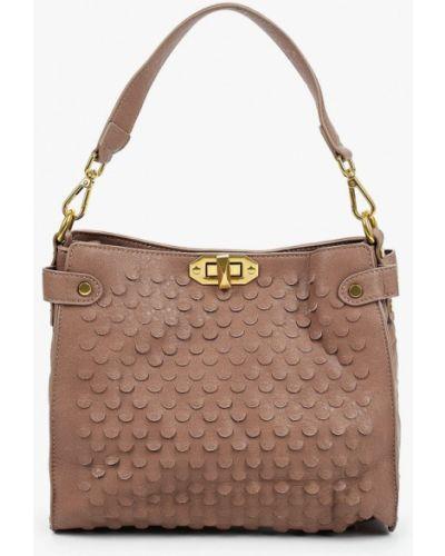 Кожаная бежевая сумка Vivian Royal