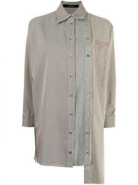 Beżowa klasyczna koszula Rokh