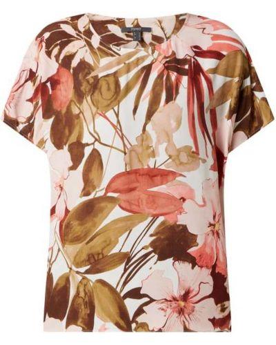 Różowy t-shirt z wiskozy Esprit Collection
