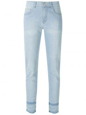 Зауженные синие укороченные брюки с карманами Amapô
