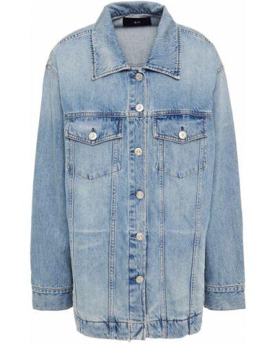 Ватная синяя джинсовая куртка с карманами 3x1