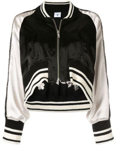 Черная короткая куртка с манжетами Maison Mihara Yasuhiro