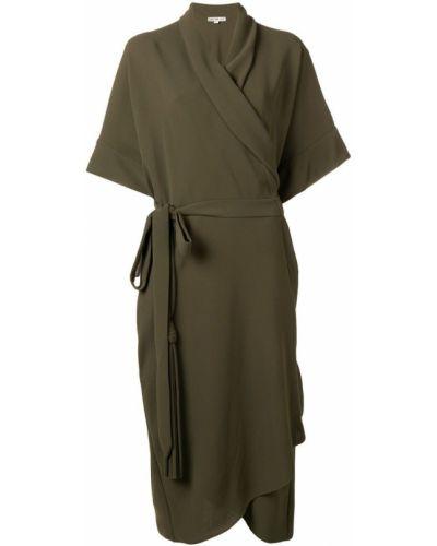 Платье миди с запахом на молнии Edeline Lee