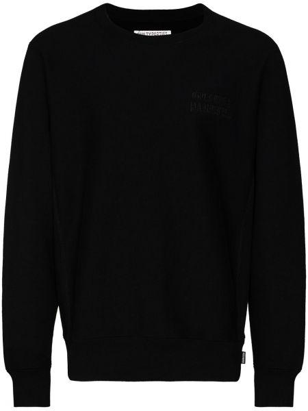 Ватный хлопковый черный свитшот Wacko Maria