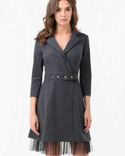 Платье серое с запахом Ricamare