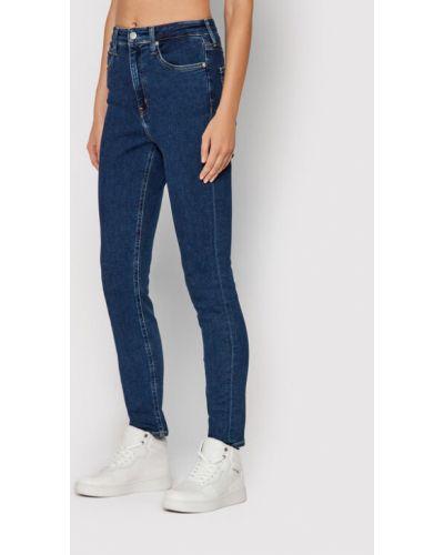 Mom jeans - niebieskie Calvin Klein Jeans
