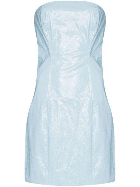 Хлопковое платье мини - синее Rotate