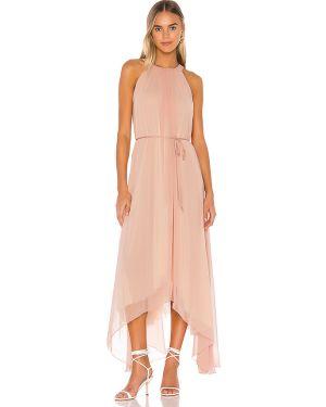 Różowa sukienka asymetryczna z nylonu Hah