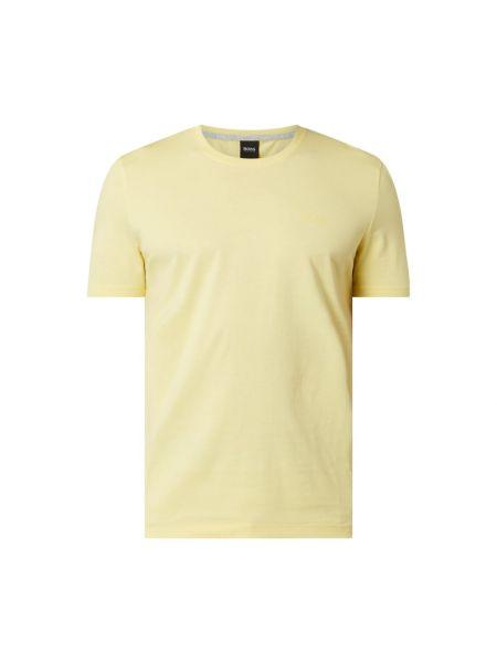 Bawełna żółty koszula z dekoltem okrągły Boss