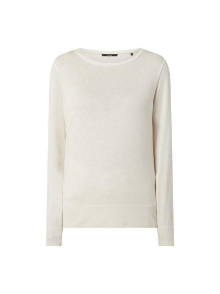 Prążkowana biała bluza bawełniana Someday