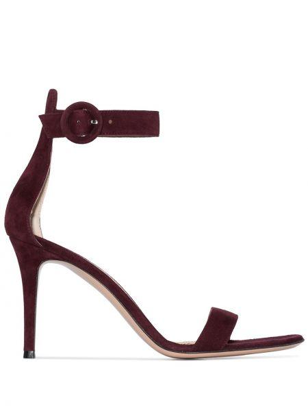С ремешком кожаные сандалии на каблуке Gianvito Rossi