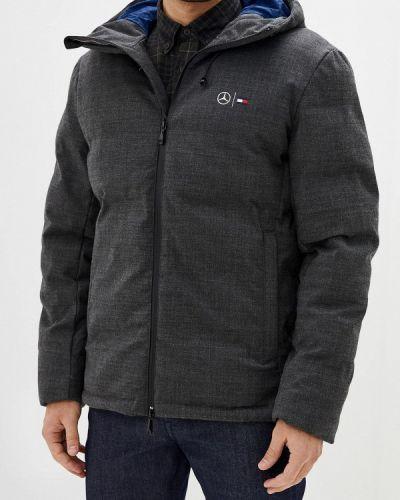 Серая теплая утепленная куртка Tommy Hilfiger
