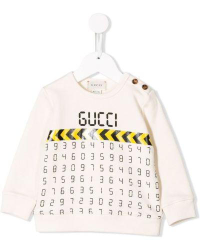 Толстовка с принтом белая Gucci Kids