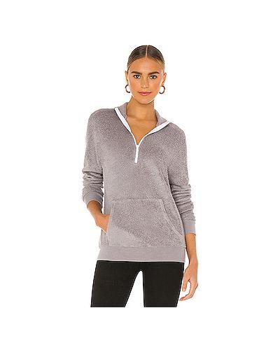 Светло-серый свитер с карманами Michael Lauren