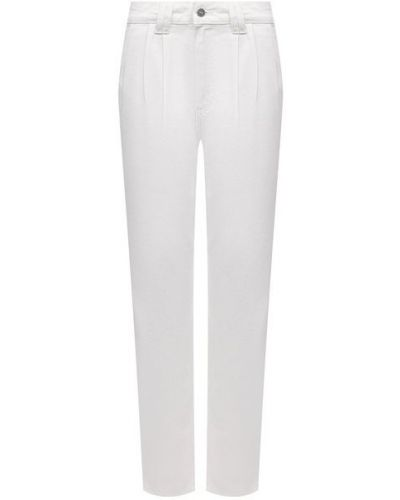 Хлопковые джинсы - белые Paige