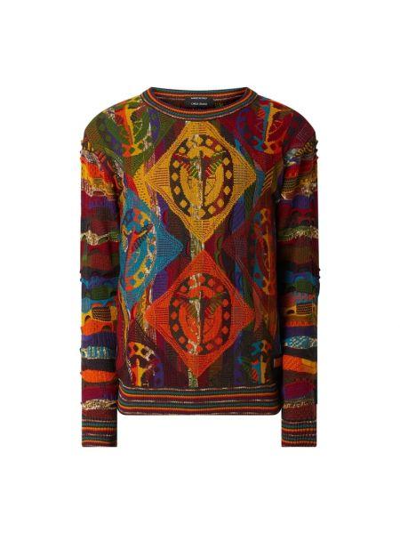 Prążkowany sweter wełniany Carlo Colucci