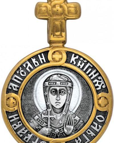 Крест золотой круглый позолоченный акимов