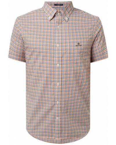 Koszula w kratę bawełniana krótki rękaw Gant