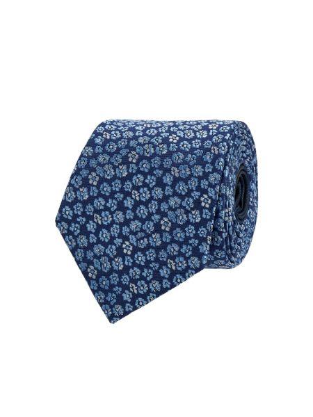 Niebieski jedwab krawat Christian Berg Men