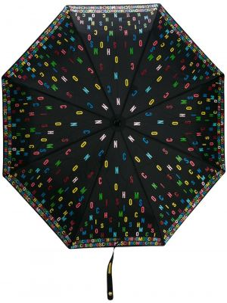 Зонт хаки с принтом Moschino