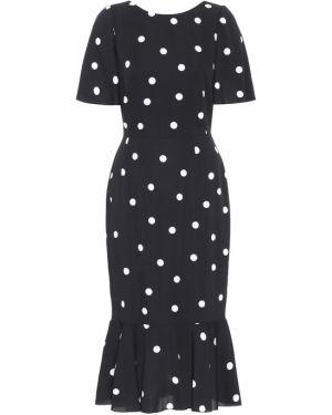 Черное платье миди Dolce & Gabbana