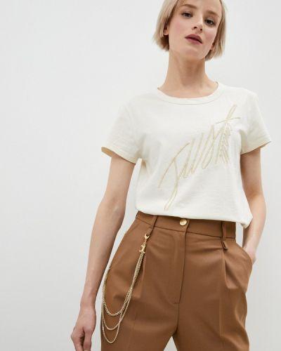 С рукавами белая футболка Just Cavalli