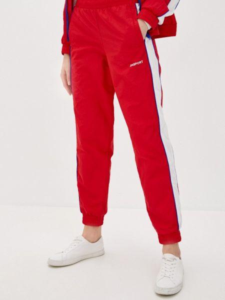 Спортивные брюки весенний красный Zasport