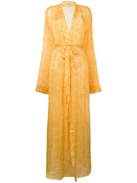 Желтый пляжный купальник с длинными рукавами Sian Swimwear